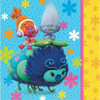 Trolls Lunch Napkins - 16 Pack