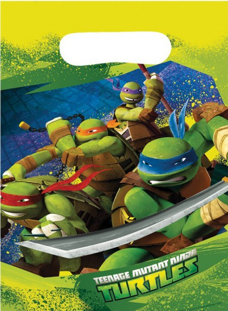 Ninja Turtles Loot Bags - 8 Pack