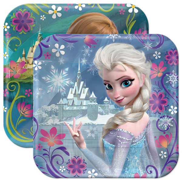 Disney Frozen Lunch Plates - 8 Pack