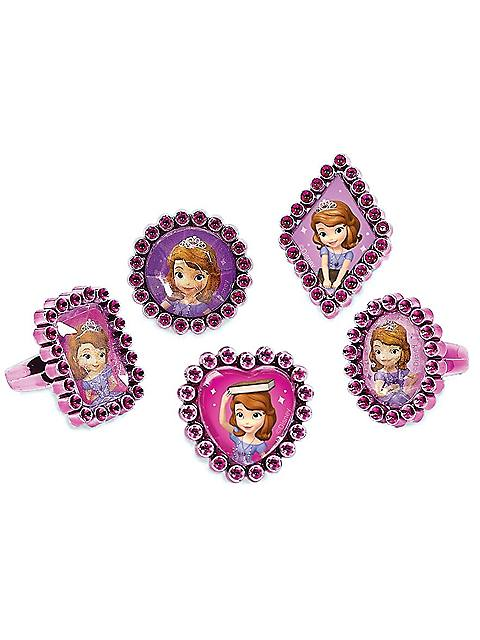 Sofia the First Jewel Ring Favours (18 Pack)