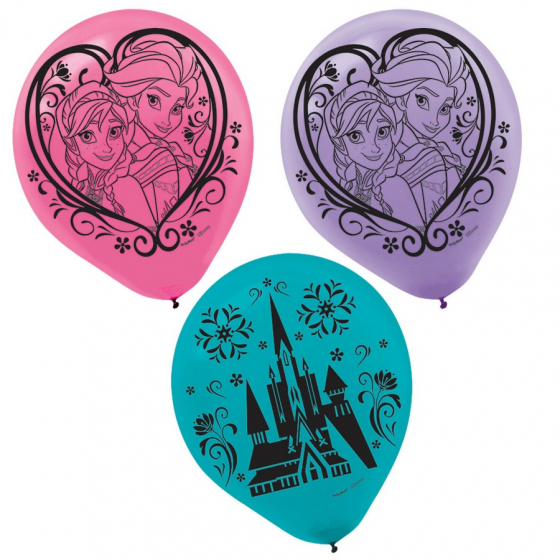 Disney Frozen 12 Inch Latex Balloons - 6 Pack