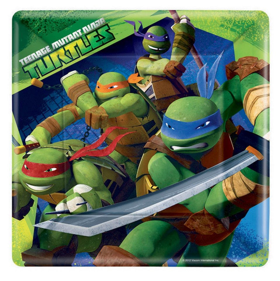 Ninja Turtles Dinner Plates - 8 Pack