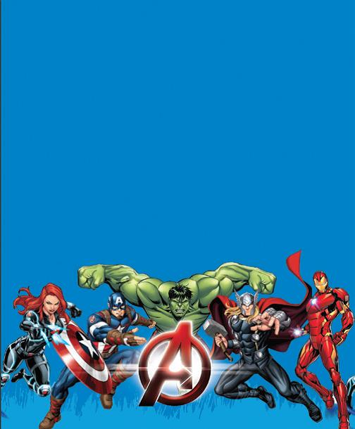Avengers Plastic Table Cover