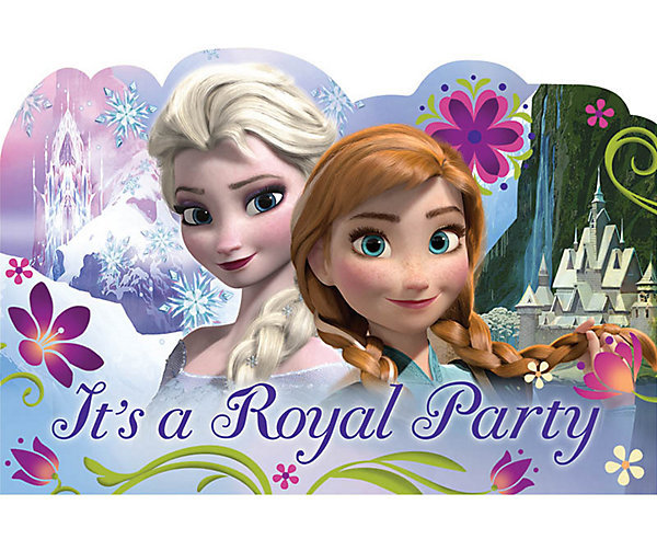 Disney Frozen Postcard Invitations - 8 Pack