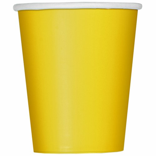 Party Cups - School Bus Yellow - 8 Pack