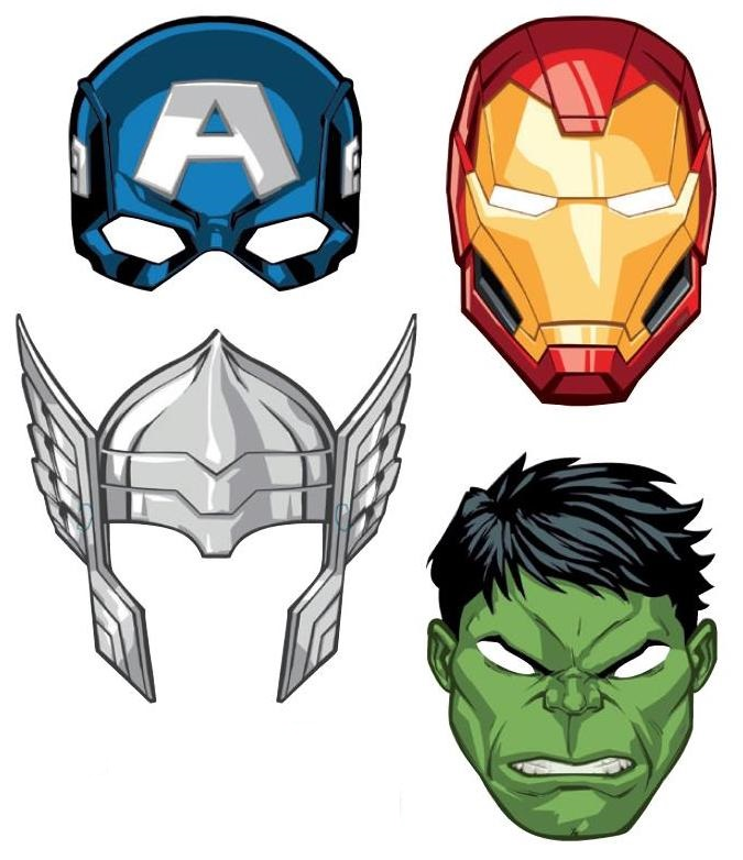 Avengers Party Masks - 8 Pack