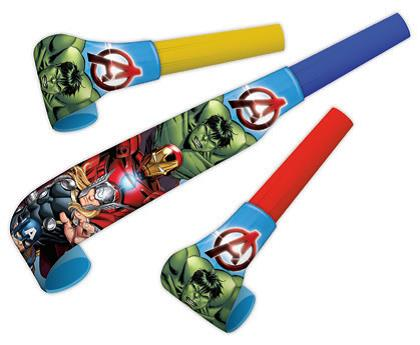 Avengers Medallion Blowouts - 8 Pack