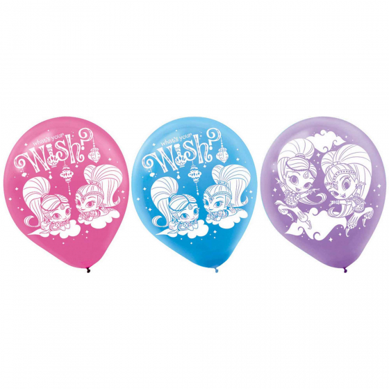 Shimmer and Shine Latex Balloons - 6 Pack