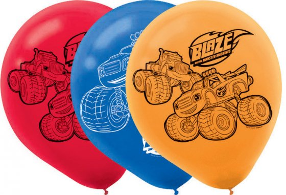 Blaze & the Monster Machines Latex Balloons - 6 Pack