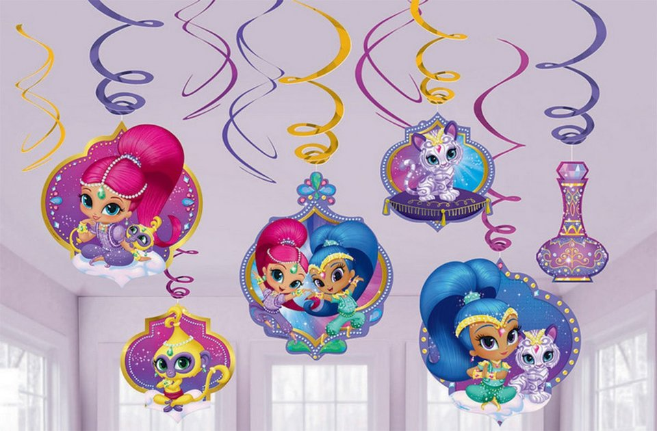 Shimmer and Shine Hanging Swirls