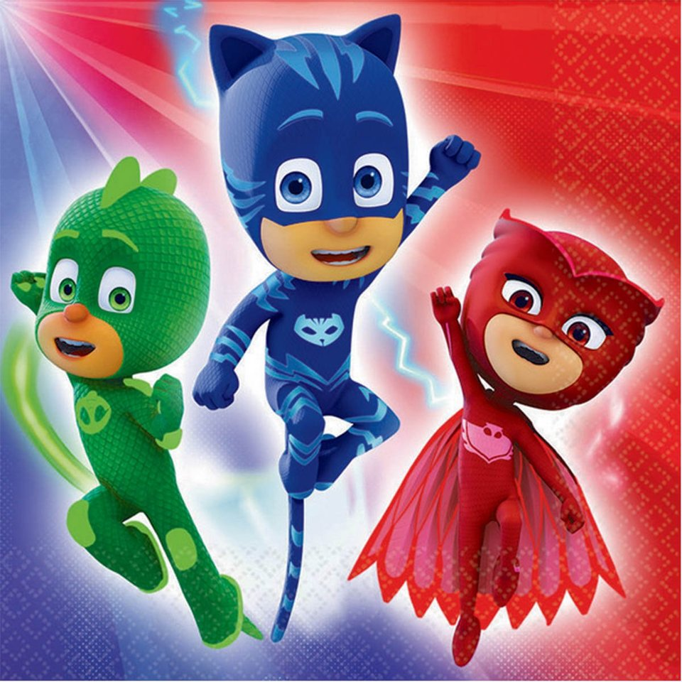 PJ Masks Lunch Napkins - 16 Pack