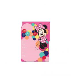 Minnie Mouse Invitations - 16 Pack