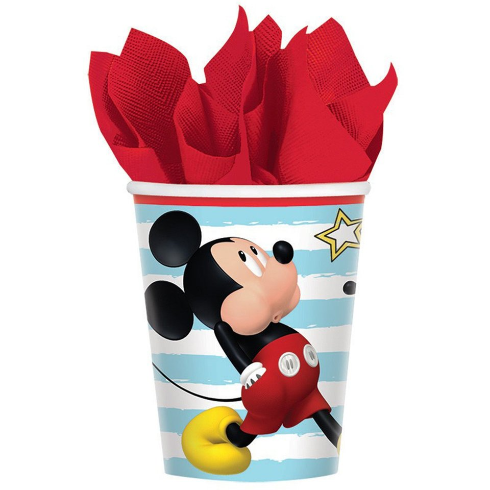 Mickey Mouse Cups - 8 Pack