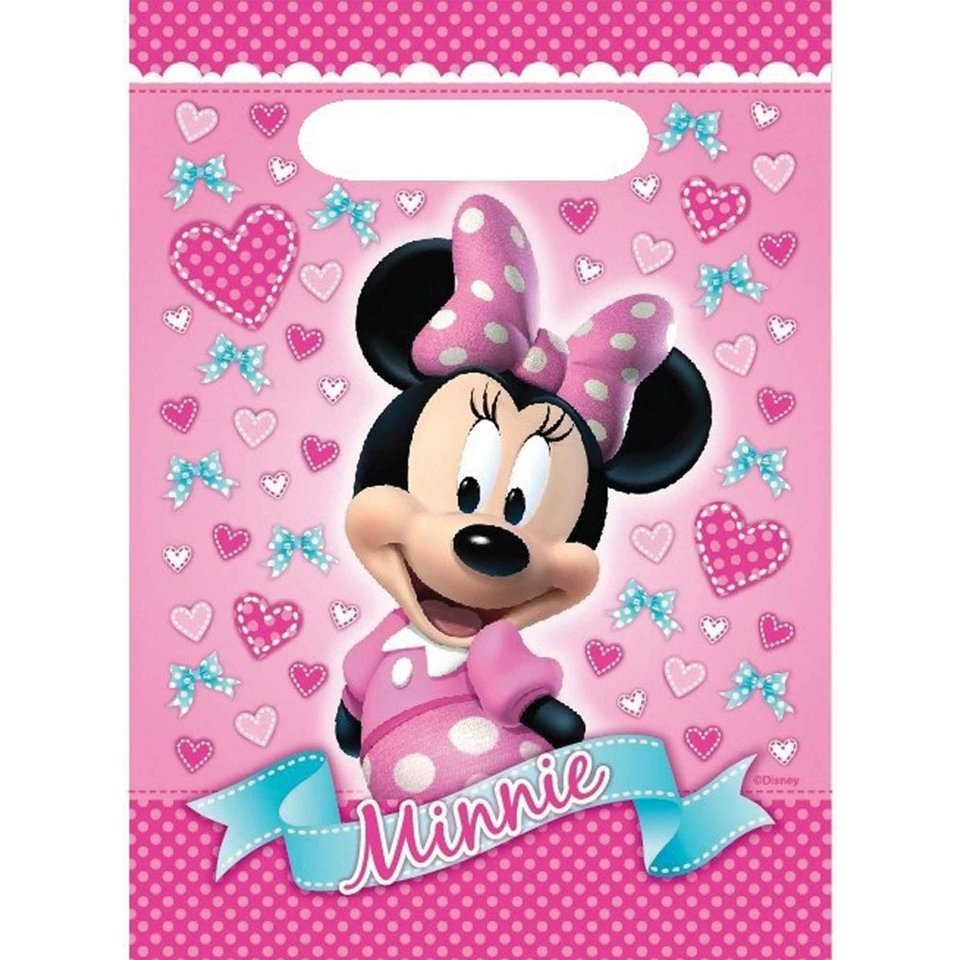 Minnie Mouse Loot Bag - 8 Pack