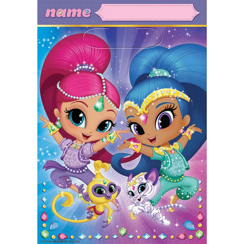 Shimmer and Shine Loot Bags  - 8 Pack
