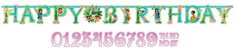 Tinker Bell - Add An Age - Jumbo Birthday Banner