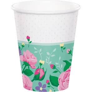 Floral Fairy Sparkle Cups - 8 Pack