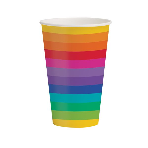Rainbow Cups - 8 Pack