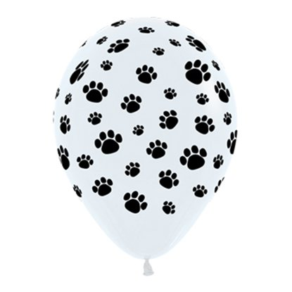 Paw Print Latex Balloons - 6 Pack