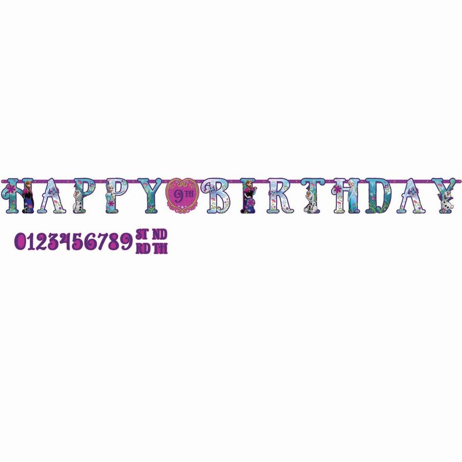 Disney Frozen Add an Age Birthday Banner