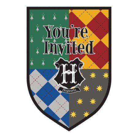 Harry Potter Invitations - 8 Pack