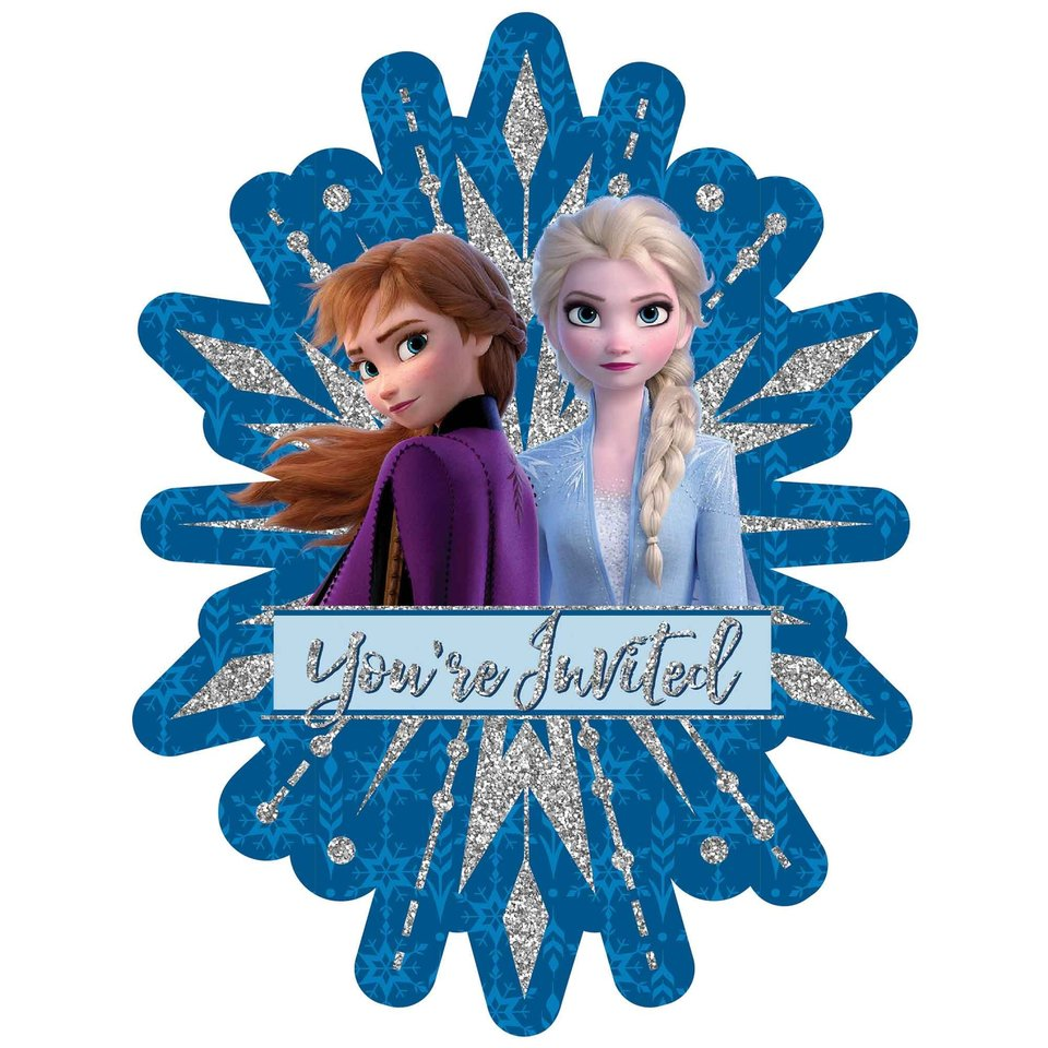 Disney Frozen 2 Deluxe Invitations - 8 Pack