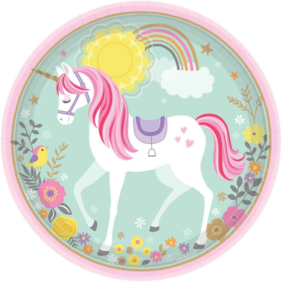 Magical Unicorn Dinner Plate - 8 Plate
