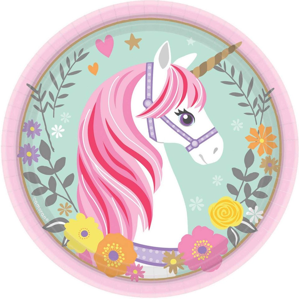 Magical Unicorn Lunch Plate - 8 Pack