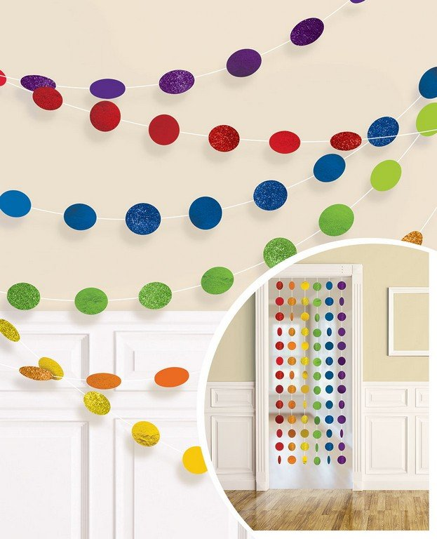 Rainbow Dot Garland