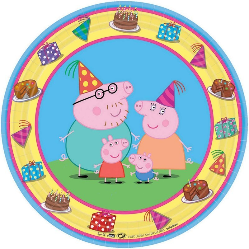 Peppa Pig Lunch Plates - 8 Pack
