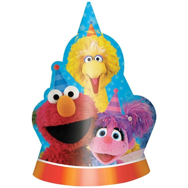 Sesame Street Shaped Party Hats - 8 Pack