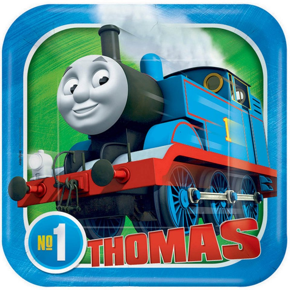 Thomas the Tank Engine Lunch Plates - 8 Pack