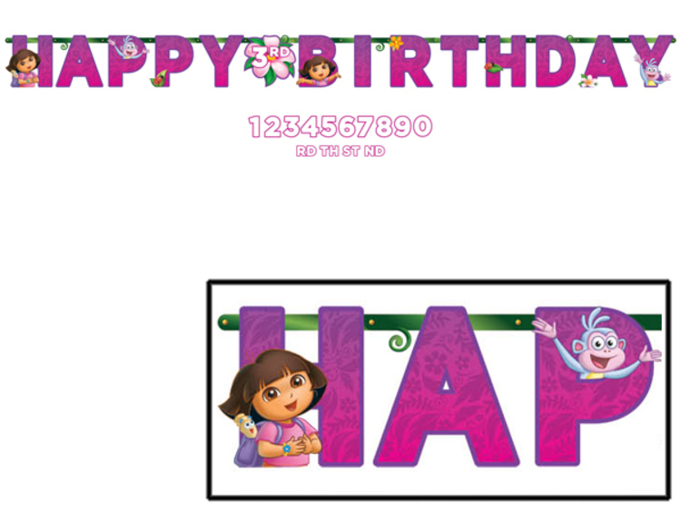 Dora the Explorer Jumbo Letter Banner Kit