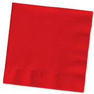 Beverage Napkins - Red - 20 Pack