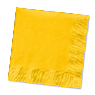 Beverage Napkins - School Bus Yellow - 20 Pack