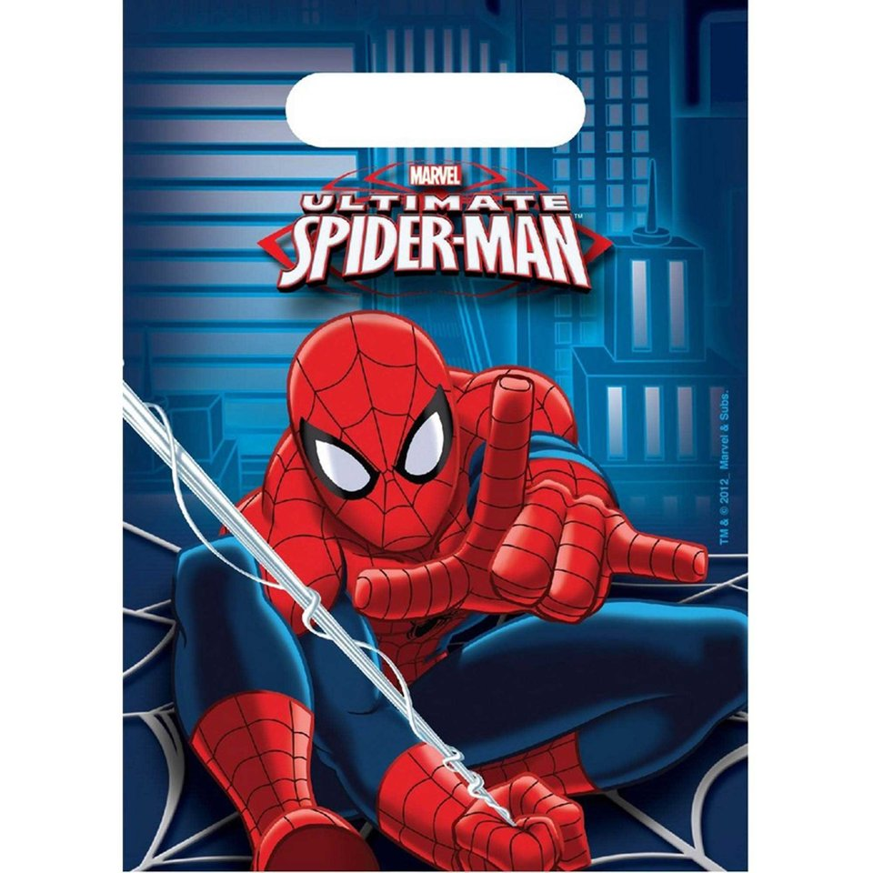 Spider-Man Loot Bags -  8 Pack