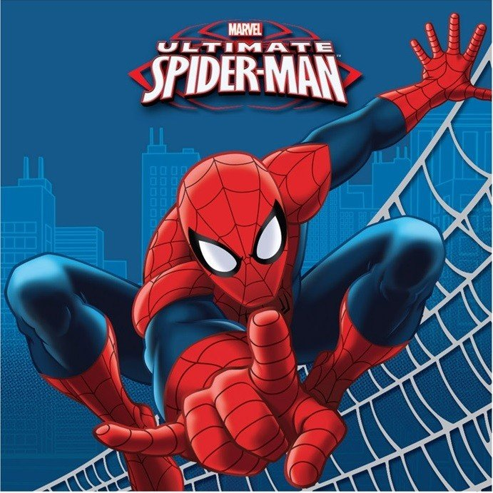 Spider-Man Lunch Napkins - 16 Pack