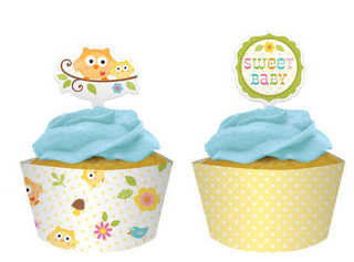 Happi Tree Cupcake Wrapper & Picks 12pk