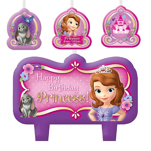 Sofia the First Birthday candle set 4pk