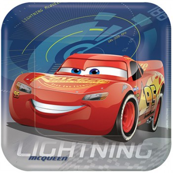Disney Cars 3 Dinner Plates - 8 Pack