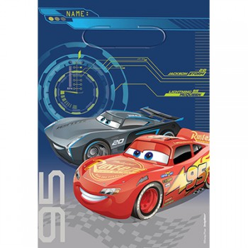 Disney Cars 3 Loot Bags - 8 Pack