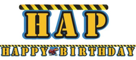 Under Construction Birthday Banner