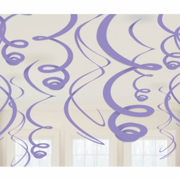 Hanging Swirls Decoration Purple