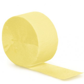 Streamer - Light Yellow Crepe