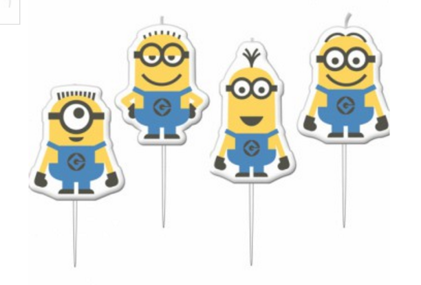 Minion Cake Candles