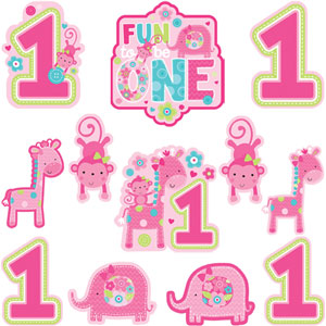 Fun to Be One Cutouts - Pink