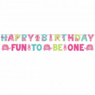 Fun to Be One Jumbo Letter Banner - Pink