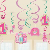 Fun to Be One Hanging Decorations - Pink