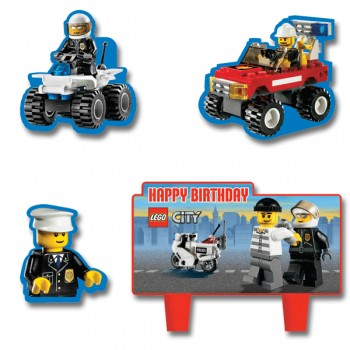 Lego City Mini Cake Decorations