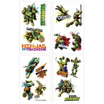 Ninja Turtles Tattoo Sheets - 16 Tattoos
